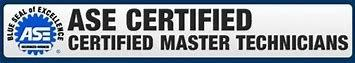 We offer ASE Certified Master Technicians